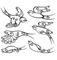 bird collection vector image