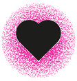 black and pink valentine abstract pattern vector image vector image