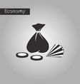 black and white style icon bag of jewels vector image vector image