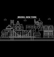 bronx silhouette skyline usa - bronx city vector image vector image