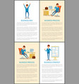 business idea and businessman talking on mobile vector image vector image