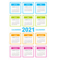 calendar on 2021 year french color with square vector image vector image