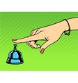 Call the Concierge woman hand bell vector image