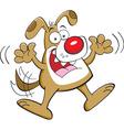 Cartoon happy dog jumping vector image vector image