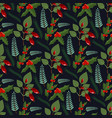 christmas floral wreath winter pattern floret vector image vector image