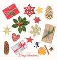 christmas hand drawn decoration vector image vector image