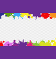 colorful blob border with transparent background vector image vector image