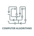 computer algorithms line icon computer vector image vector image