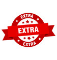 extra ribbon extra round red sign extra vector image vector image