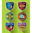 Fantasy American Football Badge Set vector image vector image