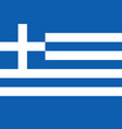 flag greece isolate banner print vector image vector image