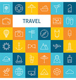 Flat Line Art Modern Travel Vacation and Resort vector image
