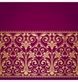 Floral pattern for invitation card vector image vector image