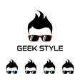 Geek style logo template vector image