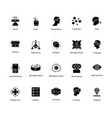 glyph icons of virtual reality vector image vector image