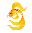 gold fish from a fairy tale vector image