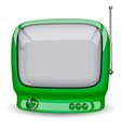 Green cute TV vector image vector image