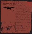 grunge postcard design vector image vector image