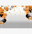 halloween background with halloween ghost vector image vector image