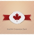 happy canada day realistic card template vector image vector image