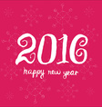 Happy new year 2016 Universal Hand drawn vector image vector image