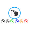 head shower rounded icon vector image