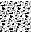 heart background - seamless heart shape texture vector image vector image