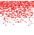 heart confetti of valentines petals falling vector image vector image