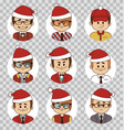 holiday people avatars collection office team vector image