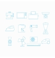 Icons for household appliances vector image