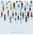 isometric 3d flat design people vector image vector image
