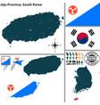 jeju province south korea vector image