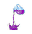 juice carafe with flowing juice isolated vector image