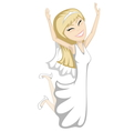 Jumping bride vector image