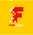 letter f pixel technology creative logo symbol vector image vector image