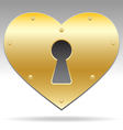 Lock shape heart object vector | Price: 1 Credit (USD $1)