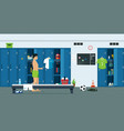 lockers of athletes vector image vector image