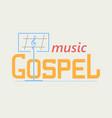 logo gospel music vector image vector image