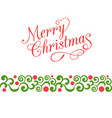 merry christmas calligraphy vector image vector image