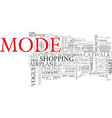mode word cloud concept vector image vector image