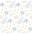modern seamless floral pattern with abstract dots vector image