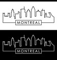 montreal skyline linear style editable file vector image vector image