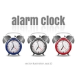 Multicolored alarm clocks vector image