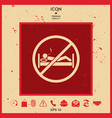 no smoking in bed - prohibition icon vector image vector image