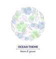 ocean theme banner template undersea world with vector image vector image