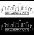 oklahoma city skyline linear style vector image vector image