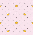 princess crown seamless pattern background vector image vector image