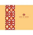 Red and gold ikat geometric frame horizontal vector image vector image