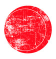 red circle grunge stamp vector image vector image