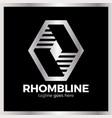 rhomb line logotype vector image vector image